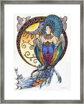 Mythological Bird-woman Gamayun - Elena Yakubovich Framed Print by Elena Yakubovich