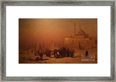 N The Way Between Old And New Cairo Citadel Mosque Framed Print by Celestial Images