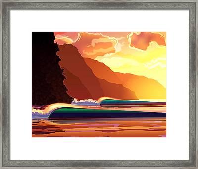 Na Pali Framed Print by Patrick Parker