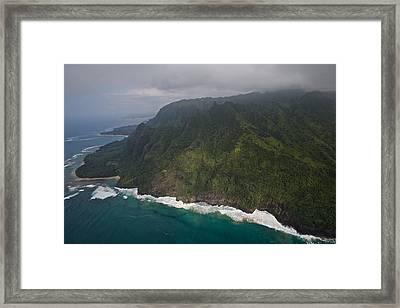 Na Pali Shore Kauai Framed Print by Steven Lapkin