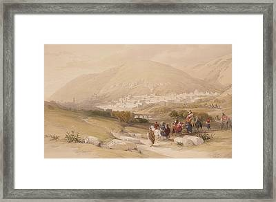 Nablous   Ancient Shechem Framed Print by David Roberts