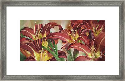 Nadine's Lilies Framed Print by Sharon Freeman