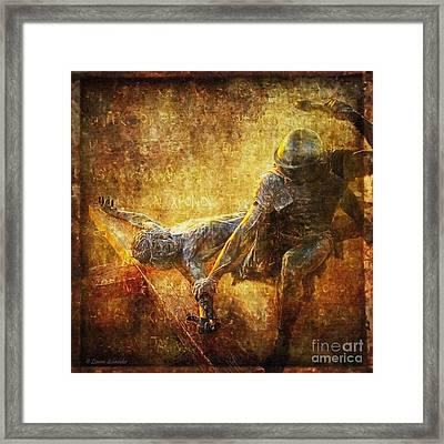 Nailed To The Cross Via Dolorosa 11 Framed Print by Lianne Schneider