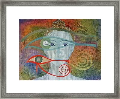 Naked Awareness Framed Print by Jennifer Baird