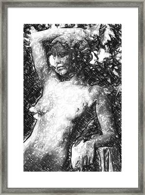 Naked Woman Framed Print by Toppart Sweden