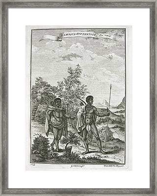 Namaqua Hottentots Framed Print by British Library