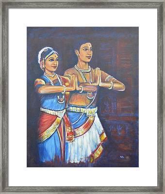 Namaskaaramu Framed Print by Usha Shantharam