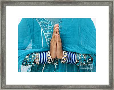 Namaskar Framed Print by Tim Gainey