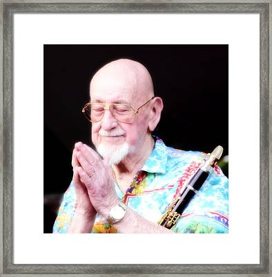 Namaste From Pete Fountain Framed Print by Bob Hislop