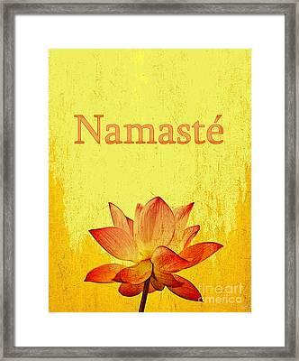 Namaste Framed Print by Nishanth Gopinathan