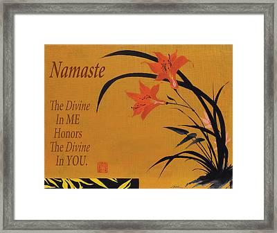 Namaste Framed Print by Shawn Shea