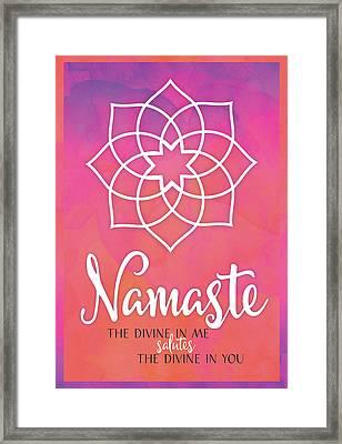 Namaste Framed Print by Tammy Apple