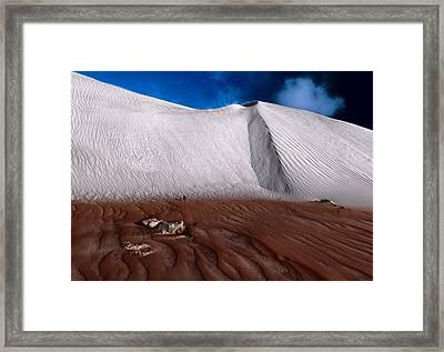 Nambung Desert Floor Framed Print by Julian Cook