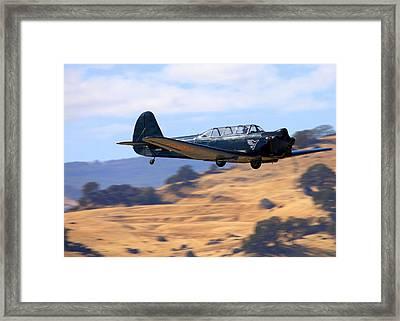 Nanchang China Cj-5 Fly-by N4366s Framed Print by John King