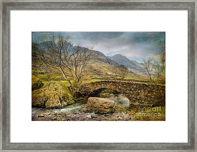 Nant Peris Pass Framed Print by Adrian Evans