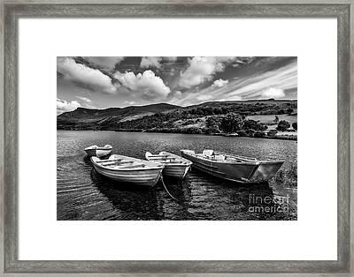 Nantlle Uchaf Boats Framed Print by Adrian Evans