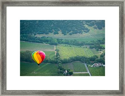 Napa Valley Aloft Framed Print by Steve Gadomski