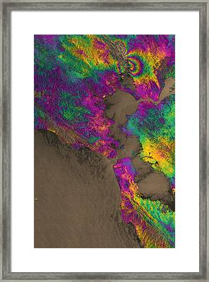 Framed Print featuring the photograph Napa Valley Earthquake, 2014 by Science Source