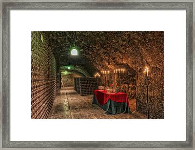 Napa Valley Wine Cave Framed Print by Mountain Dreams