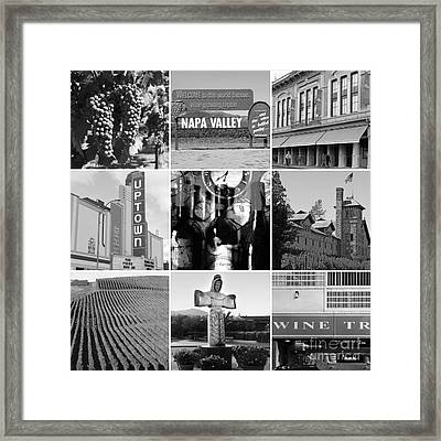 Napa Valley Wine Country 20140905 Black And White Framed Print by Wingsdomain Art and Photography