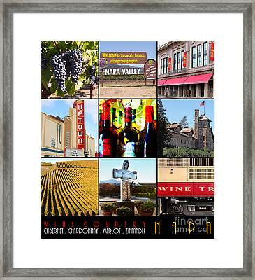 Napa Valley Wine Country 20140905 With Text Framed Print by Wingsdomain Art and Photography
