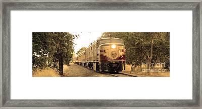 Napa Wine Train Framed Print by Jon Neidert