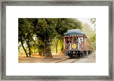 Napa Wine Train Painting Framed Print by Jon Neidert