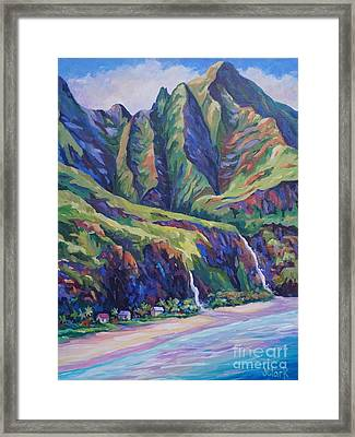 Napali Coast Evening Colours Framed Print by John Clark