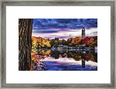 Naperville In Autumn Framed Print by Anthony Citro