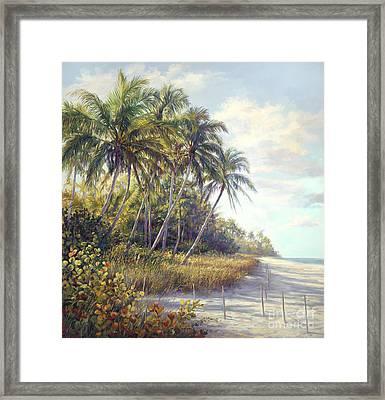Naples Beach Access Framed Print by Laurie Hein