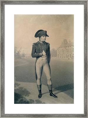 Napoleon Bonaparte  Framed Print by Jean-Baptiste Isabey