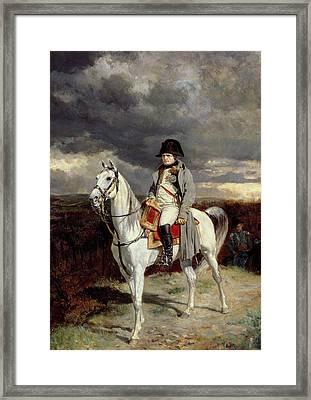 Napoleon Bonaparte Framed Print by Jean-Louis Ernest Meissonier