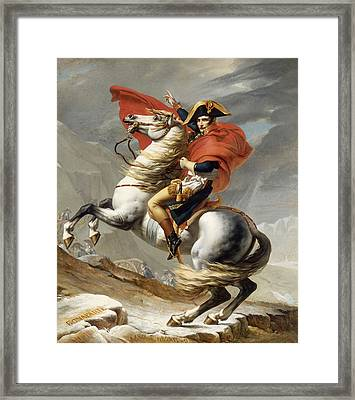 Napoleon Bonaparte On Horseback Framed Print by War Is Hell Store