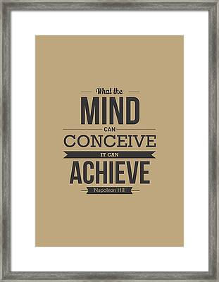 Napoleon Hill Typography Art Quotes Poster Framed Print by Lab No 4 - The Quotography Department