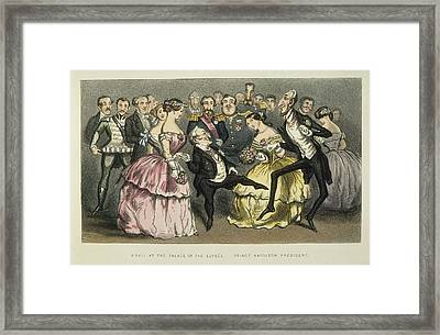 Napoleon IIi At A Ball Framed Print by Granger