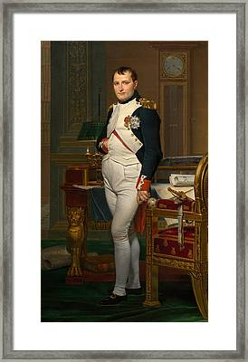 Emperor Napoleon In His Study At The Tuileries Framed Print by War Is Hell Store
