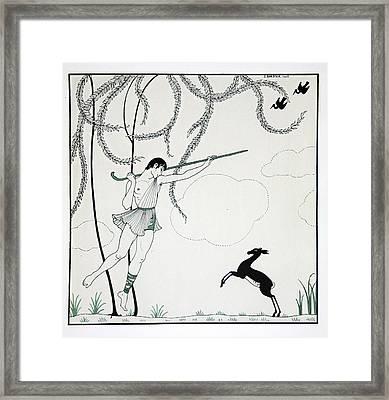 Narcisse Framed Print by Georges Barbier