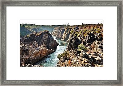 Narmada River Gorge At Jabalpur India Framed Print by Kim Bemis