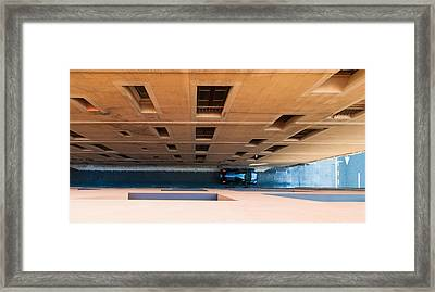 Narrow Street Canyon - Unusual View From Above Framed Print by Matthias Hauser