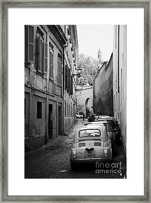 Narrow Street In Trastavere Rome Lazio Italy Framed Print by Joe Fox