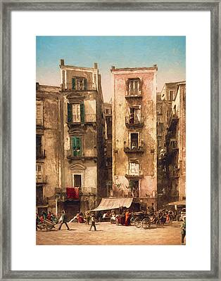 Narrow Streets Framed Print by John K Woodruff