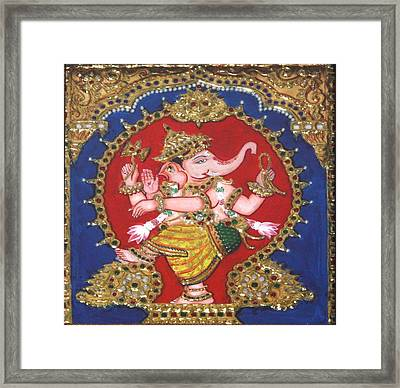 Narthana Ganapathi Framed Print by Jayashree