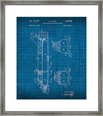 Nasa Space Shuttle Vintage Patent Diagram Blueprint Framed Print by Design Turnpike