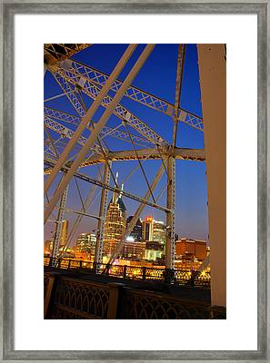 Nashville Bridge Framed Print by Zachary Cox