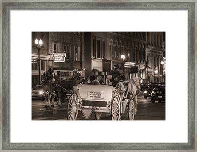 Nashville Carriage Ride Framed Print by John McGraw