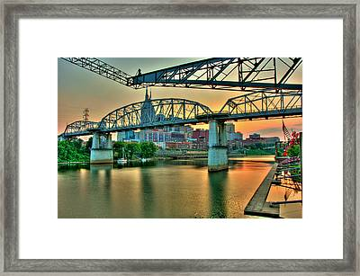 Nashville Dusk Framed Print by Zachary Cox