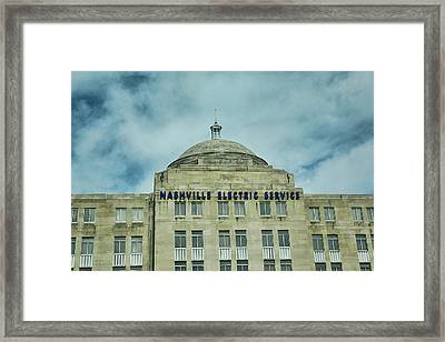 Nashville Electric Service Building Framed Print by Jai Johnson