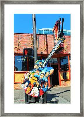 Nashville Legends Guitar Framed Print by Dan Sproul