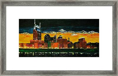 Nashville Night Framed Print by Vickie Warner
