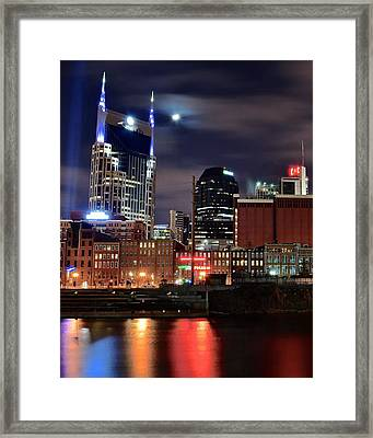 Nashville Nights Framed Print by Frozen in Time Fine Art Photography